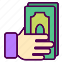 money, online, sales, shop icon