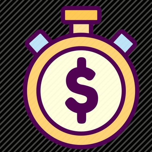 money, online, sales, shop, time icon
