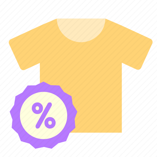 discount, for, online, sales, shirt, shop, t icon