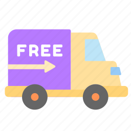 car, delivery, free, online, sales, shop, truck icon