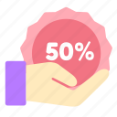 discount, ecommerce, give, online, sales, shop icon