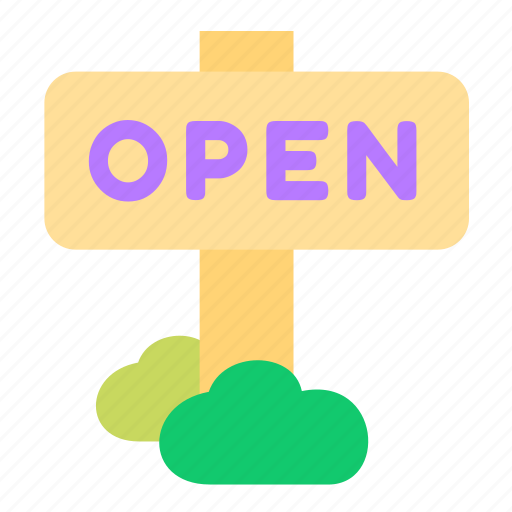 business, online, open, sales, shop, shopping, sign icon
