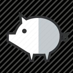 bank, cheap, deposit, fund, line, money box, piggy, save money, superannuation icon