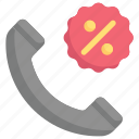 discount, notification, phone call discount, promotion, sales, sell, shopping icon