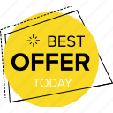 best offer today, deal of the day, sale of the day, sale offers, sale sticker icon