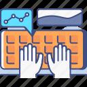 data, database, entry, keyboard icon