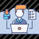 data, database, entry icon