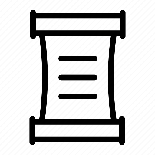 Mezuzah, doorpost, parchment, kalf, scroll message icon - Download on Iconfinder