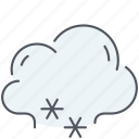 snow, cloud, weather, climate, forecast, winter, snowy icon