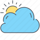 climate, cloud, forecast, overcast, sun, weather icon