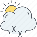 climate, cloud, forecast, snow, sun, weather, winter icon
