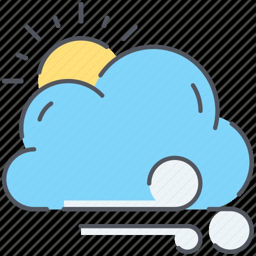 breeze, climate, cloud, forecast, sun, weather, wind icon