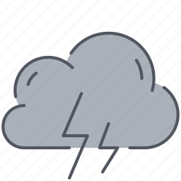 climate, cloud, forecast, lightning, storm, thunder, weather icon