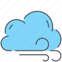 climate, cloud, forecast, overcast, weather, wind, windy icon