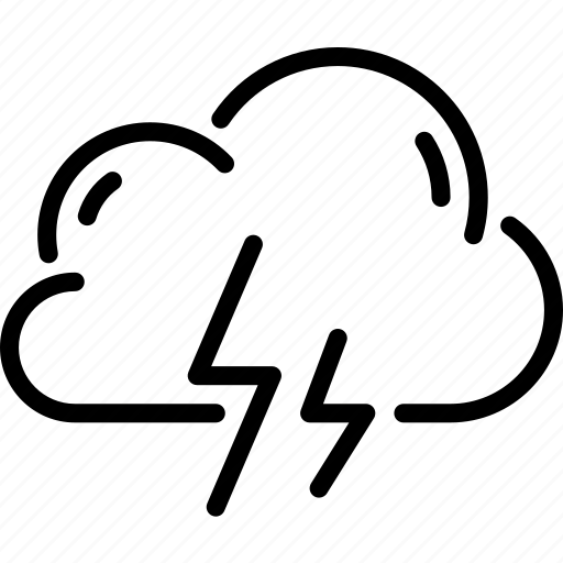 cloud, lightning, storm, summer, thunder, thunderstorm, weather icon