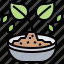 biochar, compost, plant, pot, soil