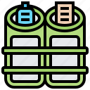 containers, disposal, garbage, recycling, trash icon