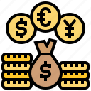 currency, exchange, money, rate, trade icon