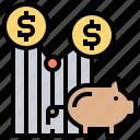 average, cost, dollar, profit, trade icon