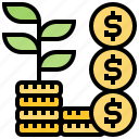 gain, growth, investment, profit, saving