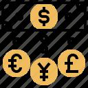 bank, currency, economic, international, monetary icon