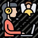 adviser, consultant, financial, operator, service icon