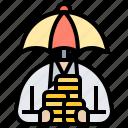 insurance, monetary, money, protection, saving icon