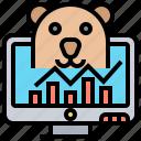 bear, exchange, investment, stock, trading
