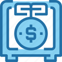 banking, growth, investment, money, safe, saving icon