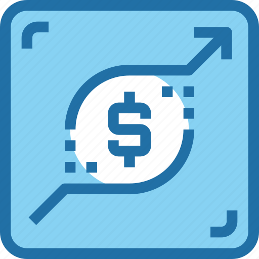 banking, business, growth, money, report, up icon
