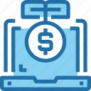 banking, computer, growth, investment, money icon