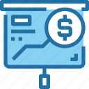 banking, coin, investment, money, present, presentation icon