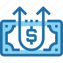 arrow, banking, growth, investment, money, up icon