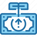 arrow, banking, growth, investment, money icon