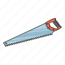 carpentry, handsaw, saw, tool icon