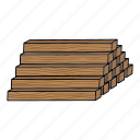 log, lumber, sawmill, timber, wood icon
