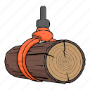 capture, equipment, lift, log, lumber, sawmill, wood icon