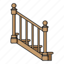 balustrade, handrail, lumber, product, railings, wooden icon