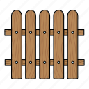 construction, fence, fencing, lumber, product, wooden icon