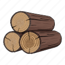 log, lumber, sawmill, timber, tree icon