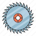 disk, saw, sawmill, teeth, tool icon