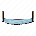arm-saw, hand saw, sawmill, teeth, tool icon
