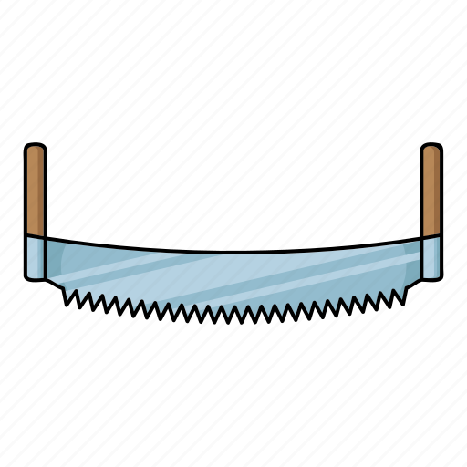 arm-saw, hand saw, sawmill, teeth, tool icon