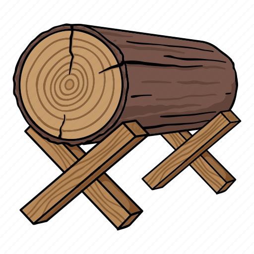 log, lumber, sawmill, stand, timber, tree icon