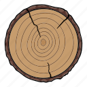 cut, end, log, structure, tree, wood icon