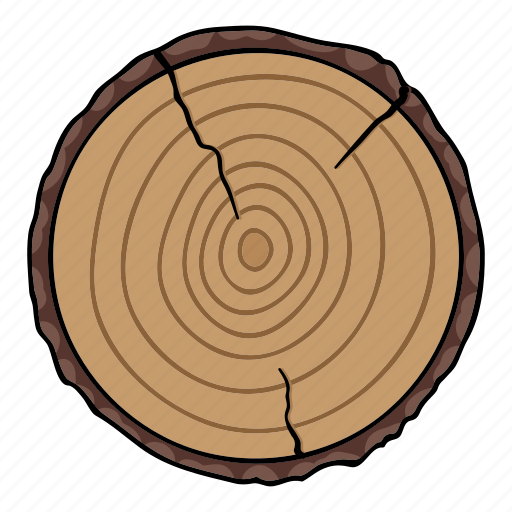 Cut, end, log, structure, tree, wood icon - Download on Iconfinder