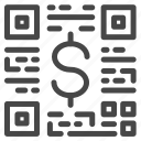 pay, payment, price, qr code, scan icon