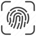 fingerprint, pay, payment, scan icon