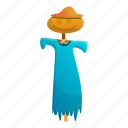 blue, dress, fashion, scarecrow, woman