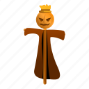 food, fruit, man, party, pumpkin, scarecrow